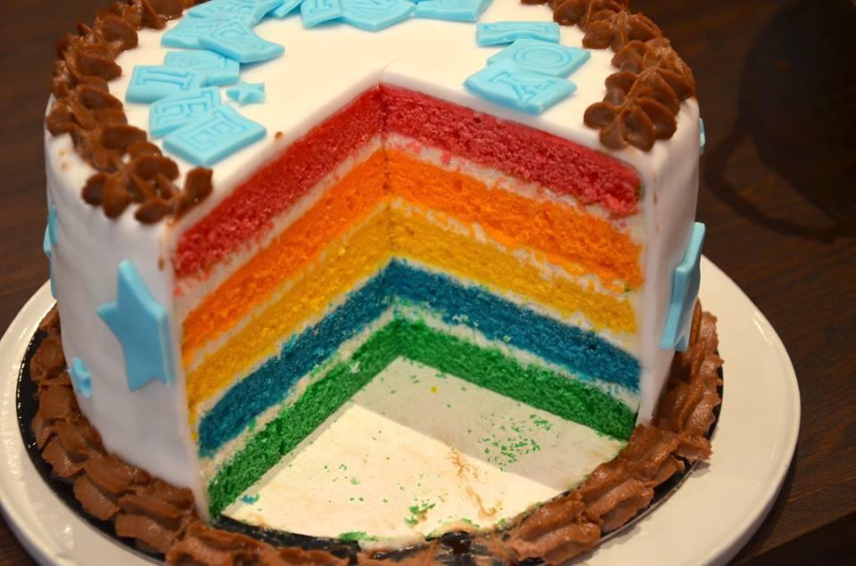 Tarif des gâteaux Rainbow cake : (intérieur arc-en-ciel)