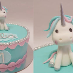 gâteau licorne argentée
